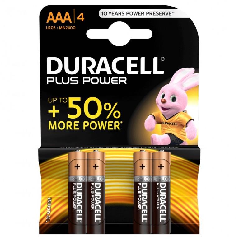 Duracell AAA Plus Power batteri 4Pak