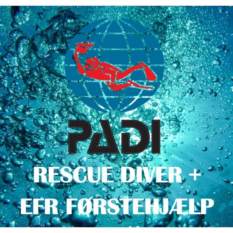 PADI Rescue Diver+EFR Førstehjælp